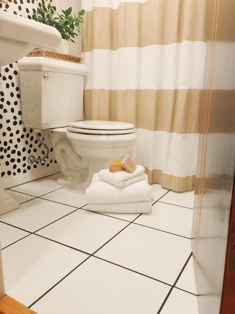 Diy Bathroom Refresh On A Budget Grout Color Change Life